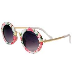 Jual Beli Online Anak Anak Boys Gadis Cool Cute Bulat Kacamata Bingkai Logam Uv Perlindungan Mengenakan Nyaman Bunga