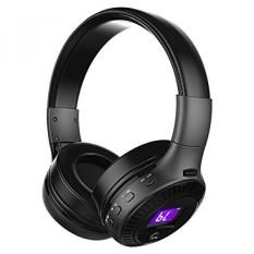 Headphone Kids, Lipat Remaja Hi-fi Bluetooth Headset Pada Telinga dengan Mic, Layar LED, 3.5mm Kabel Audio dan FM Radio, Adjustable Earphone untuk Smartphone Tablet PC Dukungan SD Card, Hadiah Natal untuk Anak Laki-laki-Intl