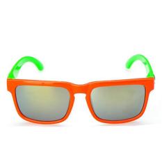 Kids Sunglasses Boys Square Kacamata Polarized Lensa Polaroid UV400 Anak Siswa Frame Girl Mirror Retro (Orange)