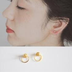 Kim 24k Baru Berlapisan Emas Lingkaran Bulat Anting