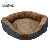 Review Kimpets Denim Kain Lembut Bisa Dicuci Tempat Tidur Kucing Anjing Peliharaan Rumah Bantalan Kandang Biru L Intl