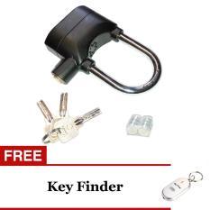Kinbar Gembok Alarm Super Kuat - Original - Ring Panjang + Gratis KeyFinder - Gantungan Kunci Siul Random Colour
