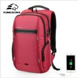 Review Toko Kingsons 13 Inch Ransel Laptop External Usb Charge Computer Ransel Anti Theft Waterproof Tas Untuk Pria Wanita Intl