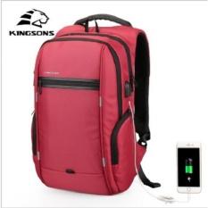 Jual Kingsons 13 Inch Ransel Laptop External Usb Charge Computer Ransel Anti Theft Waterproof Tas Untuk Pria Wanita Intl Kingsons Branded