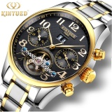 Review Toko Kinyued Swiss New Fashion Men S Automatic Mechanical Watch Gold Business Waterproof Wristwatch Online