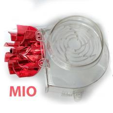 Kipas Radiator Warna Merah + Cover Radiator Transparant Untuk Mio Karbulator