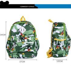 Kisnow Kartun Kamuflase Nilon Sch**l Travel Shoulder Bag Ransel Intl Original