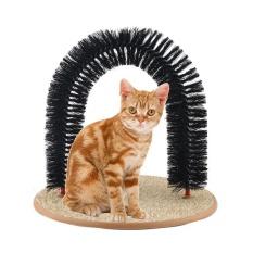 Kitty Cat Bertengger Scratcher Mainan Hewan Peliharaan Purrfect Arch Diri Perawat Dan Pijat Catnip Kucing Perawatan-Intl By Live Birds.
