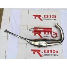 Knalpot Creampie Type NS2 Chrom Las Cacing Untuk NINJA 150 R / SS / RR ( Slincer New Red Power )