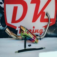 Knalpot Racing Honda Tiger Akrapovic Garda Rainbow Fullstainless