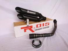 Knalpot Racing X Max 250 - N-Max - Honda PCX 150 - Vario 150 - 125 Full Set Akrapovic Double Slincer Full Black Doff