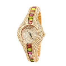 Kobwa Supreme (SMAYS) Watch Hongkong Fashion Girls QUARTZ Ladies Watch Dial Watch Watch A987 3 Silver Stone (GoldMulticolor)