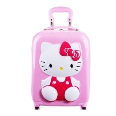 Harga Koper Kabin Kucing Kitty 16 Inch Import 4 Roda Hardcase Seken