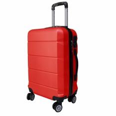 Koper Polo Expley Hardcase Luggage 24 Inchi 802-24 Anti Theft Original - Red