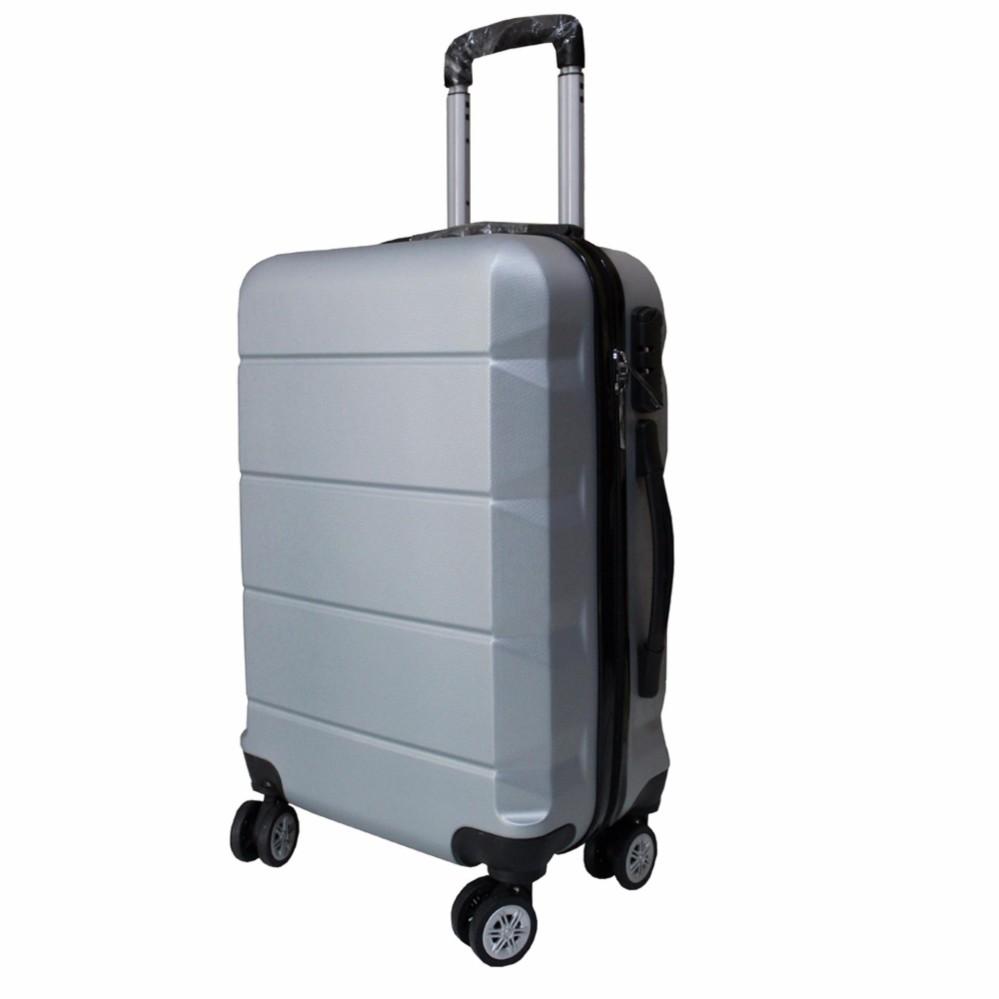 ... Koper Polo Expley Hardcase Luggage 24 Inchi 802-24 Anti Theft Original - Silver