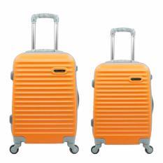 Promo Toko Koper Polo Hoby 905 Abs 1 Set Orange 20 Dan 24 Inch