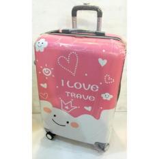 Harga Koper Polo I Love Travel Pink 20 Inch Yang Murah Dan Bagus