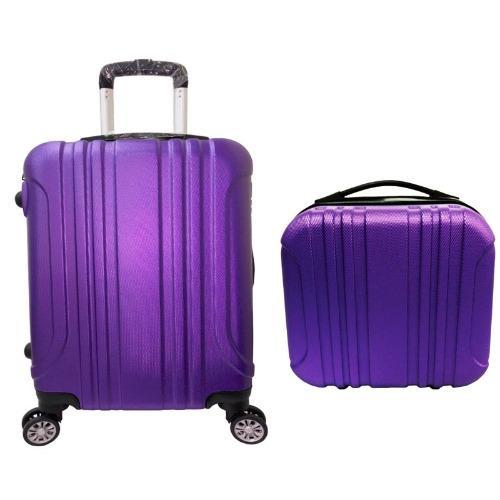 "Beli sekarang Koper Polo Maple ABS Vertical Stripe Six - B11 - deep purple 12""(beautycase) & 16"" terbaik murah - Hanya Rp619.389"