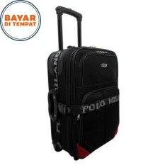 Koper Polo Milano Koper Baju Koper Murah Ukuran 20 Inchi 210-20 Expandable Import Original - Black Red