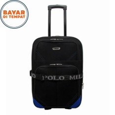 Koper Polo Milano Size 24 Inchi Koper Bahan Koper Murah 210-24 Expandable Import Original - Black Blue