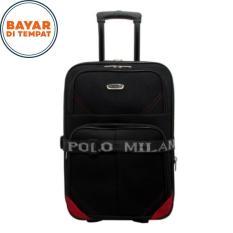 Koper Polo Milano Size 24 Inchi Koper Bahan Koper Murah 210-24 Expandable Import Original - Black Red
