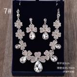 Toko Korea Benang Anting Menikah Gaun Pengantin Asesoris Berlian Imitasi Kalung Tiongkok