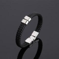 Gaya Korea baja titanium Pria gelang minimalis Domineering pasang Perhiasan Tangan Laki-Laki keprib