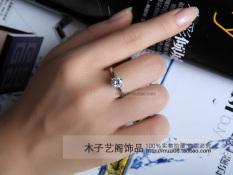 Korea Modis Gaya Enam Cakar Titanium Baja Perempuan Cincin Zirkon Cincin Berlian