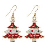 Toko Korea Fashion Style Flash Berlian Tetes Demi Tetes Minyak Pohon Natal Anting Lengkap Di Tiongkok