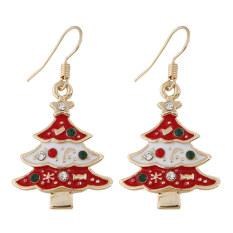 Toko Jual Korea Fashion Style Flash Berlian Tetes Demi Tetes Minyak Pohon Natal Anting