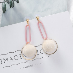 Korea Fashion Style Model Panjang Bulu Bola Anting-anting Anting IDR60600