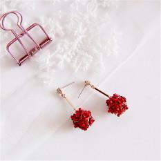 Toko Korea Fashion Style Mawar Bunga Hydrangea Anting Anting Anting Oem Di Tiongkok