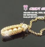 Tips Beli Korea Fashion Style Perak Penuh Berlian Kacang Polong Kalung Berantai Model Panjang Kalung Yang Bagus