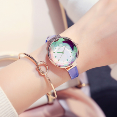 Beli Korea Fashion Style Wanita Tahan Air Jam Tangan Cantik Jam Tangan Kulit Kredit