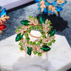 Harga Korea Fashion Style Menakjubkan Buatan Berlian Kristal Bros Termurah