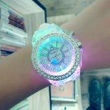Harga Korea Fashion Jam Tangan Pasangan Geneva Emitting Luminous Watchsilicone Quartz Watch Diamond Edge Putih Intl Paling Murah