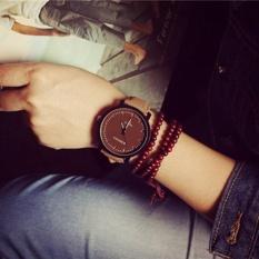 Korea Harajuku Ringkas Casual QUARTZ Polish Leather Strap Pecinta Barang Antik Watch COROMOSE-Intl