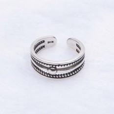 Korea S925 Sterling Perak Lingkaran Pembukaan Dapat Disesuaikan Retro Benang Lingkaran Produsen Jual Cincin Perak-Internasional