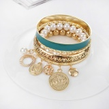 Jual Beli Korea Gaya Bohemian Fashion Pearl Berongga Multi Layer Gelang Intl