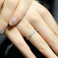 Gaya Korea Wanita Casual Indah Diamond Ring Anti Alergi Perhiasan Platina-Intl