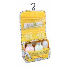 Model Korean Travel Toiletries Organizer Multi Purpose Bag Kuning Smiley Terbaru
