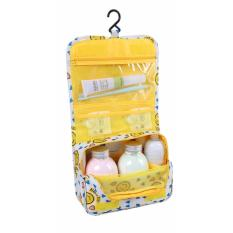 Jual Korean Travel Toiletries Organizer Multi Purpose Bag Kuning Smiley Grosir