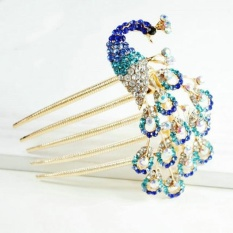Korean Version of Peacock Headdress Hair Accessories Vintage Hair Clip Hairpin - intl