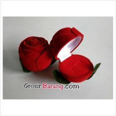 Kotak cincin kado valentine couple ring lamaran sangjit bentuk mawar