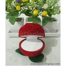 Kotak Cincin Mawar Merah Murah Display Tempat Cincin Couple Pajangan Perhiasan Liontin Cincin Lamaran