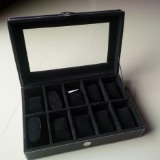 Spesifikasi Kotak Jam Tangan Watch Box 10 Slot Hitam Bagus