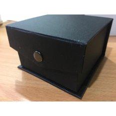 Kotak, Tempat, Box Jam Tangan Hitam Model Kancing Bantal Murah