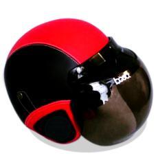 Kreasi Lokal - Helm Retro Classic Kaca Bogo Dewasa - Hitam Merah