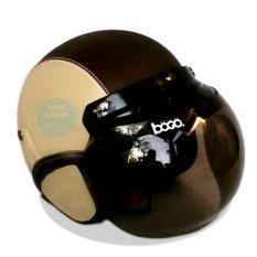 Review Kreasi Lokal Helm Retro Classic Kaca Bogo Dewasa Kream Coklat Tua Jbx Helmets