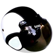 Kreasi Lokal - Helm Retro Classic Kaca Bogo Dewasa - Putih Hitam